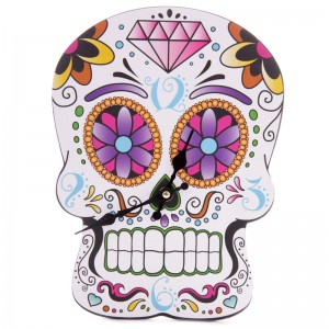Day of the Dead Candy Skull Clock